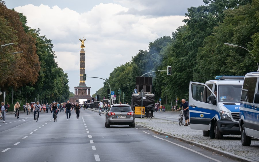 Demo in Berlin - Siegessäule